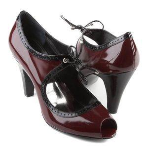Alfani | Red Brick Merlot Mary Jane Tie Heels